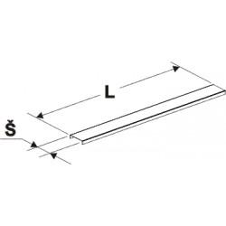 kryt gondoly vnitřní, stojina 60x30, délka 125cm, šířka 8cm