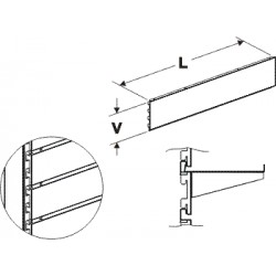 zadní panel kazetový, délka 100cm, výška  10cm