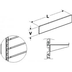 zadní panel kazetový, délka 125cm, výška  10cm