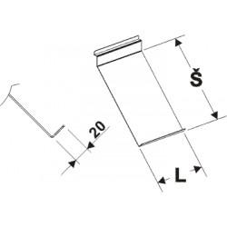 kazetová police na obuv čelní dvojitá, délka 20cm, šířka 32cm