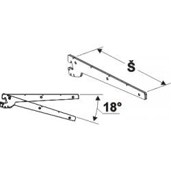 konzola nízká dvojitá, šířka 40cm