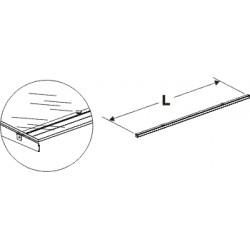 spojnice konzol skleněné police, délka 125cm