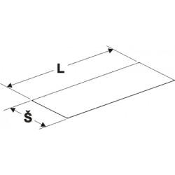 podhled kovové police, délka 100cm, šířka 50cm
