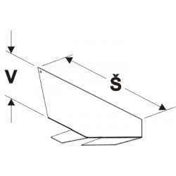 dělítko korytové police, šířka 47cm, výška 14,5cm
