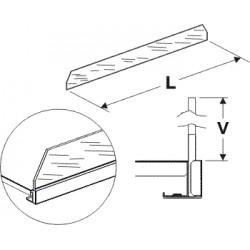 čelní opěra vysoká (sklo), délka 125cm, výška 7,5cm