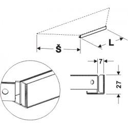 držák cenovky koutový 90°, délka 59cm, šířka 20cm