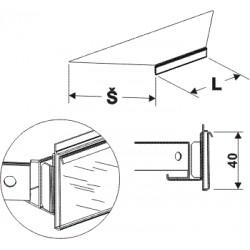 cenovková lišta kotová 90°, délka 58,5cm, šířka 20cm