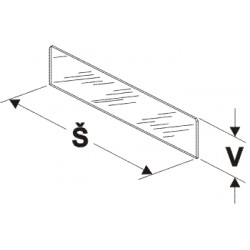 dělítko nízké (sklo), šířka 40cm, výška 7,5cm