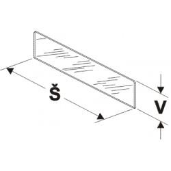 dělítko nízké (sklo), šířka 50cm, výška 7,5cm