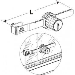zámek vitríny, délka 11cm
