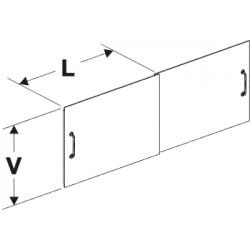 dvířka zásobníku posuvná (pár), délka 50,5cm, výška 56cm