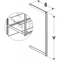 nosník vysoké vitríny, šířka 40cm, výška 40cm