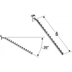konfekční rameno šikmé, šířka 45cm