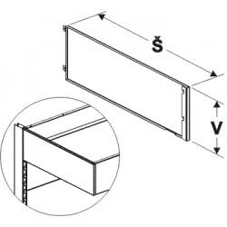 bočnice zastřešení levá, šířka 64cm, výška 20cm