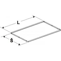 deska zastřešení rovná, délka 62,5cm, šířka 62,5cm