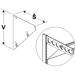 boční kryt lomené desky levý, šířka 28cm, výška 30cm
