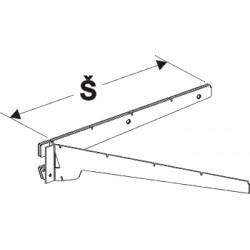 konzola dvojitá levá, šířka 50cm