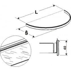 cenovková lišta půlkruhu, délka 88cm, šířka 40cm