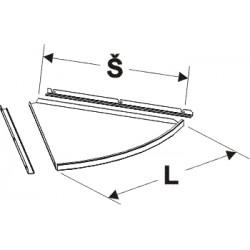 deska půlkruhového zastřešení (1/3), délka 65cm, šířka 62cm