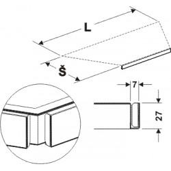 držák cenovky lichoběžníku, délka 68cm, šířka 30cm