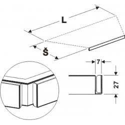 držák cenovky lichoběžníku, délka 88cm, šířka 40cm