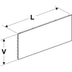 zadní panel plný, délka 133cm, výška 10cm