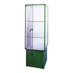Prosklená vitrina se zámkem
