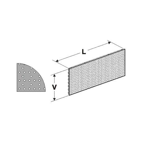 zadní panel děrovaný S, délka 62,5cm, výška 20cm