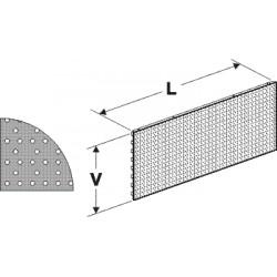 zadní panel děrovaný S, délka 125cm, výška 20cm