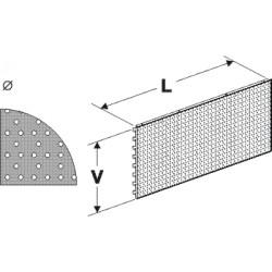 zadní panel koutový 90° děrovaný S, délka 88cm, výška 20cm