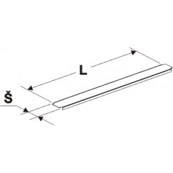 krycí lišta gondoly, stojina 60x30, délka 100cm, šířka 8cm
