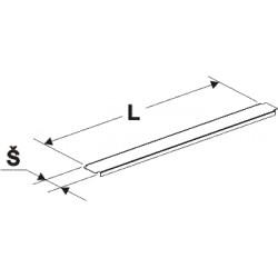 krycí lišta gondoly, stojina 80x30, délka 125cm, šířka 8cm